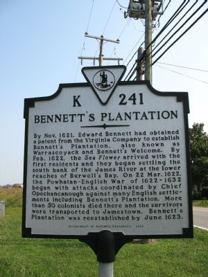 Bennett's Plantation Marker image. Click for full size.