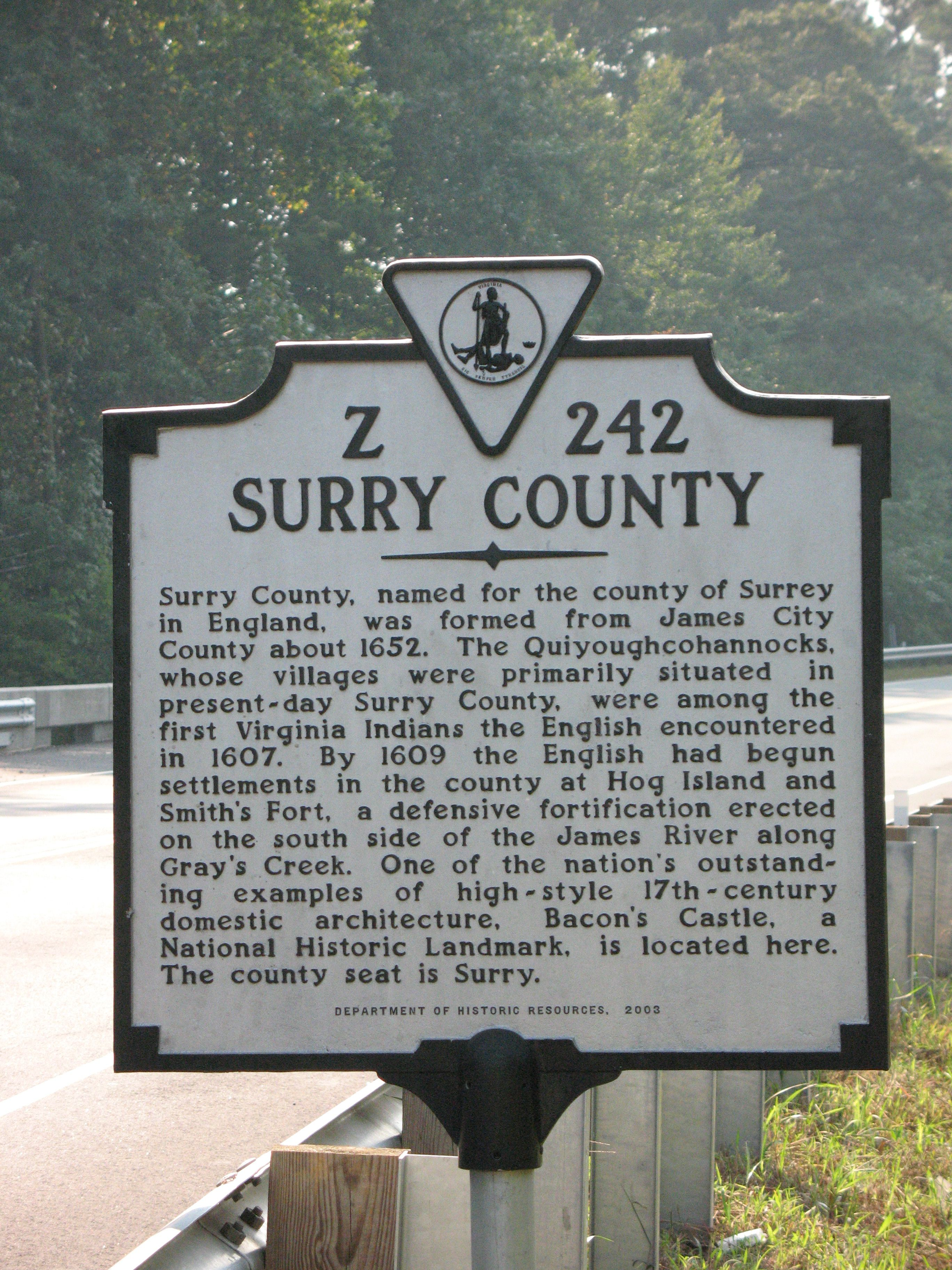 Surry County Marker