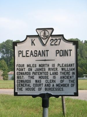 Pleasant Point Marker image. Click for full size.