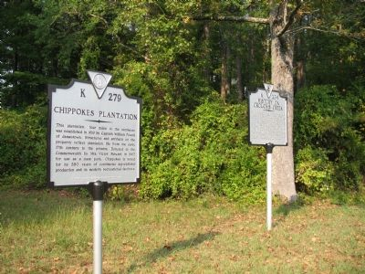 Chippokes Plantation Marker image. Click for full size.