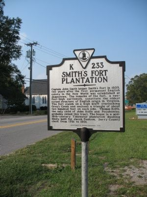 Smith's Fort Plantation Marker image. Click for full size.