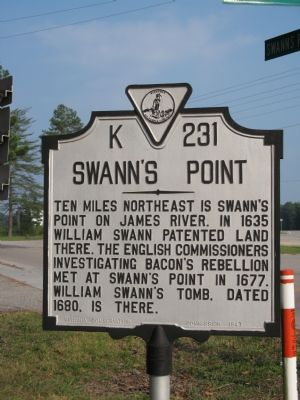 Swann's Point Marker image. Click for full size.