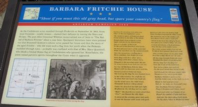 Barbara Fritchie House Marker image. Click for full size.