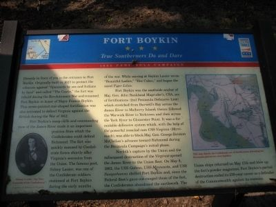 Fort Boykin Marker image. Click for full size.
