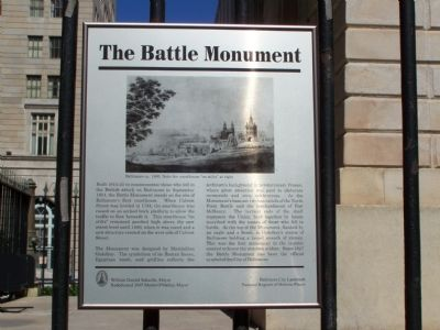 The Battle Monument Interpretive panel image. Click for full size.