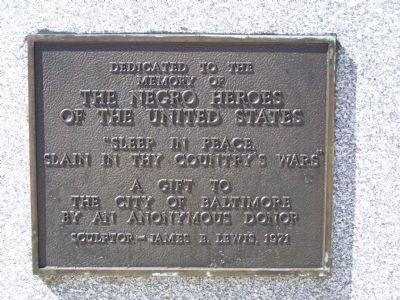 The Negro Heroes of the United States Marker image. Click for full size.