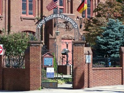 Entrance Gate of Zion Lutheran Church image. Click for full size.