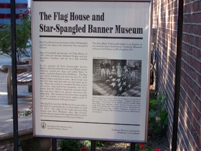 The Flag House and Star-Spangled Banner Museum Marker image. Click for full size.