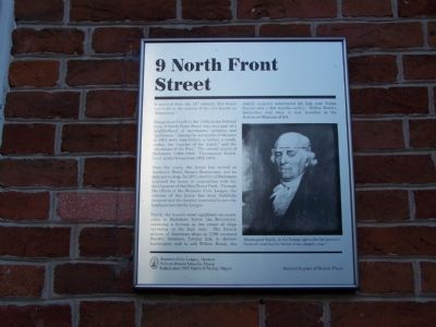 9 North Front Street Marker image. Click for full size.