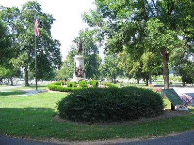 Marker in Front of the Key Memorial and Grave image. Click for full size.