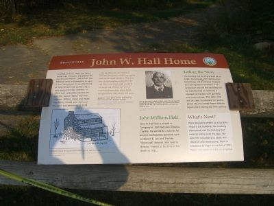 John W. Hall Home Marker image. Click for full size.
