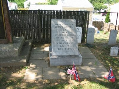 Marker Gravestone for Unknown Confederate Soldiers image. Click for full size.