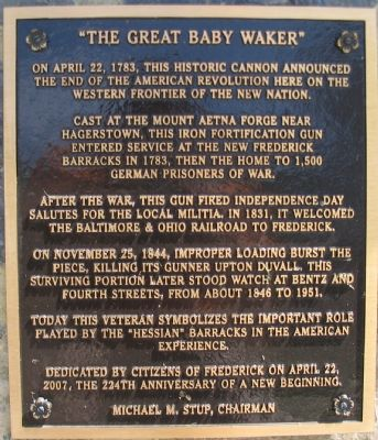 """The Great Baby Waker"" Marker image. Click for full size."