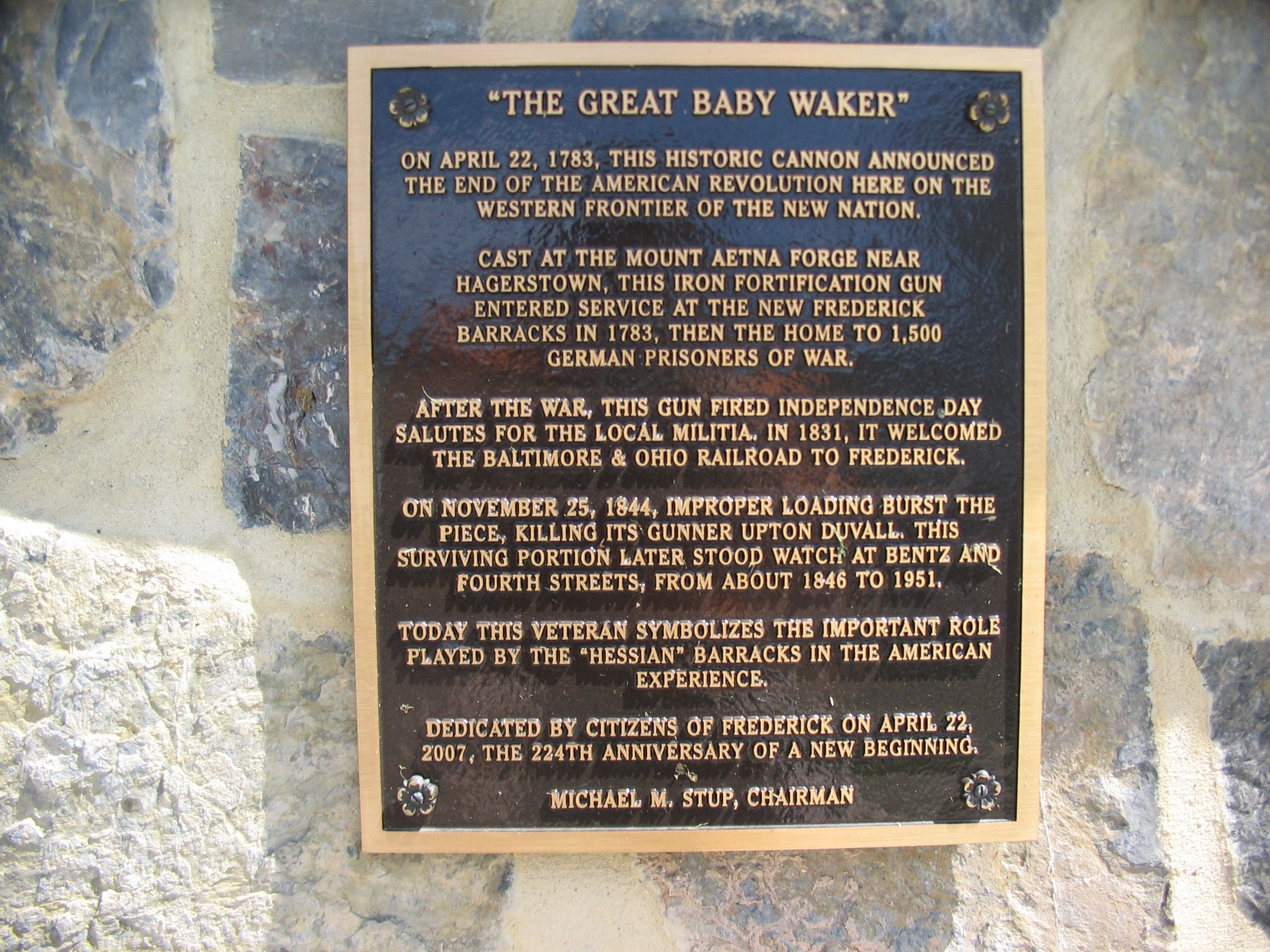 """The Great Baby Waker"" Marker"