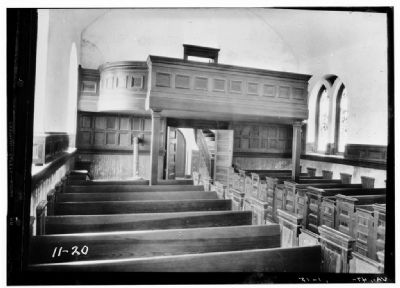 Interior of St. Luke's Church, c. 1930s image. Click for full size.