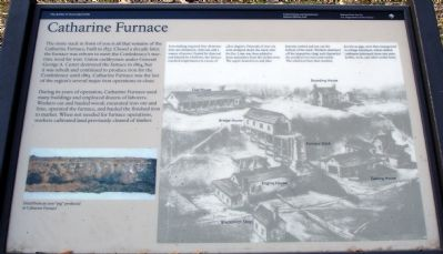 Catharine Furnace Marker image. Click for full size.