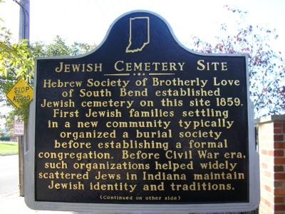 Jewish Cemetery Site Marker image. Click for full size.