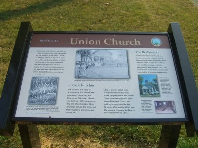 Brentsville - Union Church Marker image. Click for full size.