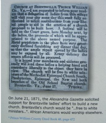 Close up of <i>Alexandria Gazette</i> article. image. Click for full size.