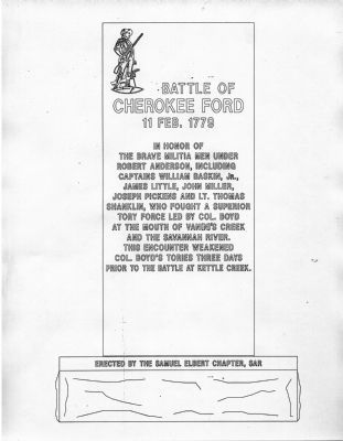 Draft picture of Battle of Cherokee Ford Marker image. Click for full size.