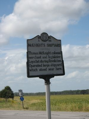 McKnight's Shipyard Marker image. Click for full size.