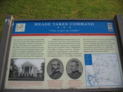 Meade Takes Command Marker image. Click for full size.
