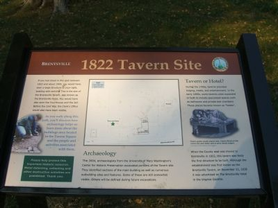 Brentsville – 1822 Tavern Site Marker image. Click for full size.