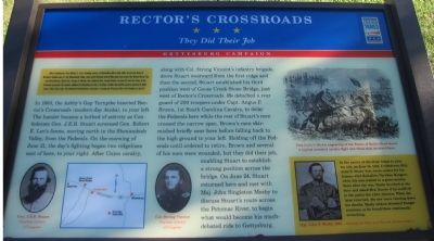 Rector's Crossroads Marker image. Click for full size.