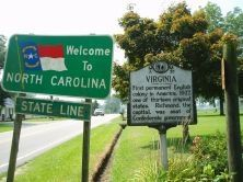 North Carolina/Virginia Marker image. Click for full size.