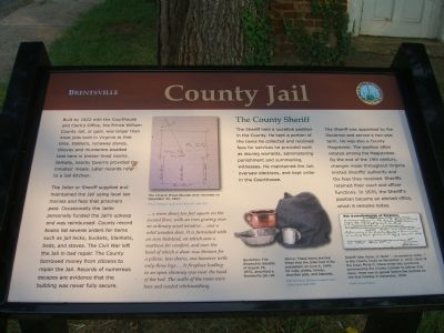 Brentsville - County Jail Marker image. Click for full size.