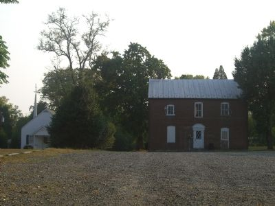 Back of Brentsville Jail image. Click for full size.