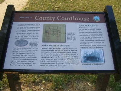 Brentsville - County Courthouse Marker image. Click for full size.