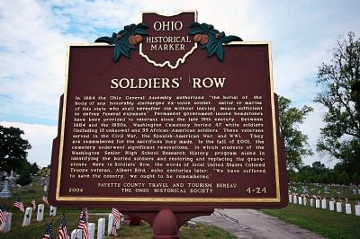 Soldiers' Row Marker image. Click for full size.