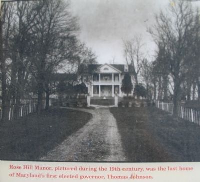 Photograph of Rose Hill Manor from the Marker image. Click for full size.