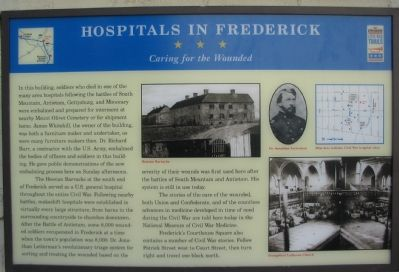 Hospitals in Frederick Marker image. Click for full size.