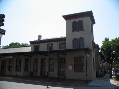 Old B & O Railroad Station image. Click for full size.