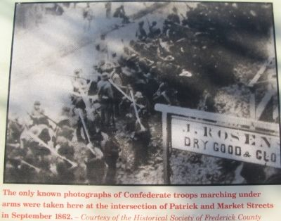 Close Up of Confederate Soldiers Passing Through Frederick image. Click for full size.
