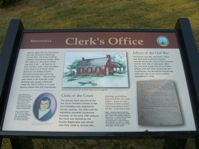 Brentsville – Clerks' Office Marker image. Click for full size.