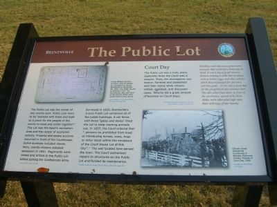 Brentsville - The Public Lot Marker image. Click for full size.