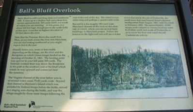 Ball's Bluff Overlook Marker image. Click for full size.