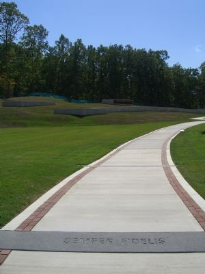 The walkway leading to the Once a Marine .... Always a Marine Memorial image. Click for full size.
