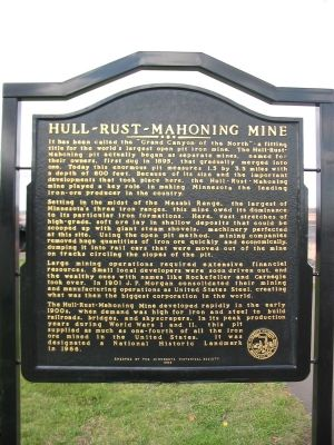 Hull-Rust-Mahoning Mine Marker image. Click for full size.