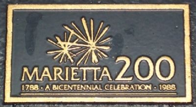 Marietta Bicentennial Logo on Marker image. Click for full size.