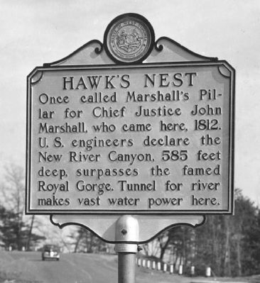 Hawk's Nest Marker image. Click for full size.