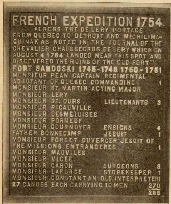 French Expedition, 1754 Marker image. Click for full size.