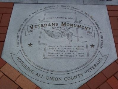 Union County Veterans Monument Base image. Click for full size.
