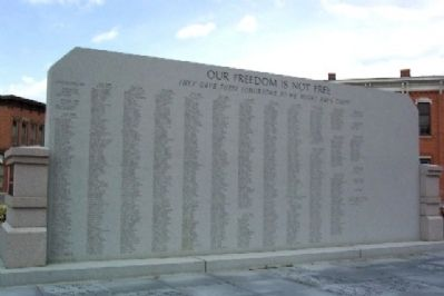 Union County Veterans Monument Roll of Honored Dead image. Click for full size.