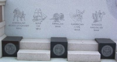Union County Veterans Monument United States Wars image. Click for full size.