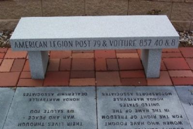 American Legion Post 79 & Voiture 857 40&8 Bench image. Click for full size.