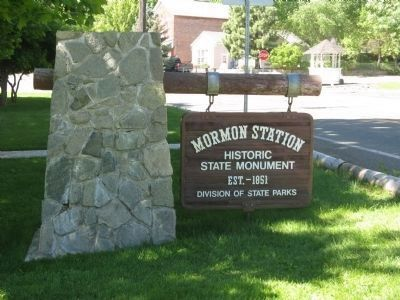 Mormon Station State Park Sign image. Click for full size.